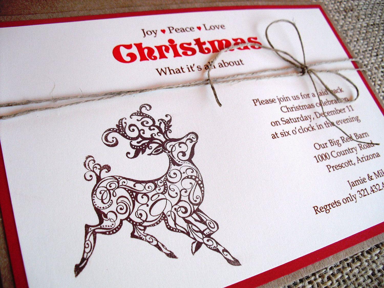 Invitations de noel a imprimer de style rustique id e invitation et enveloppe invitations - Enveloppe de noel ...