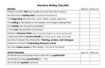 narrative essay checklist pdf