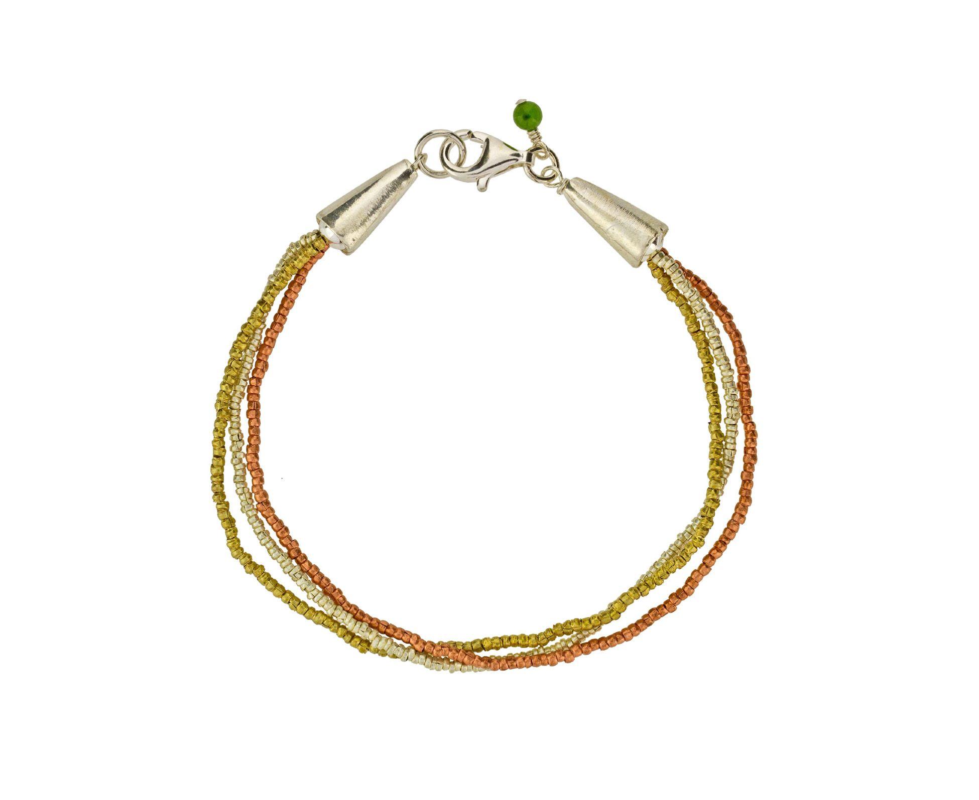 Triple Strand Seed Bead Bracelet