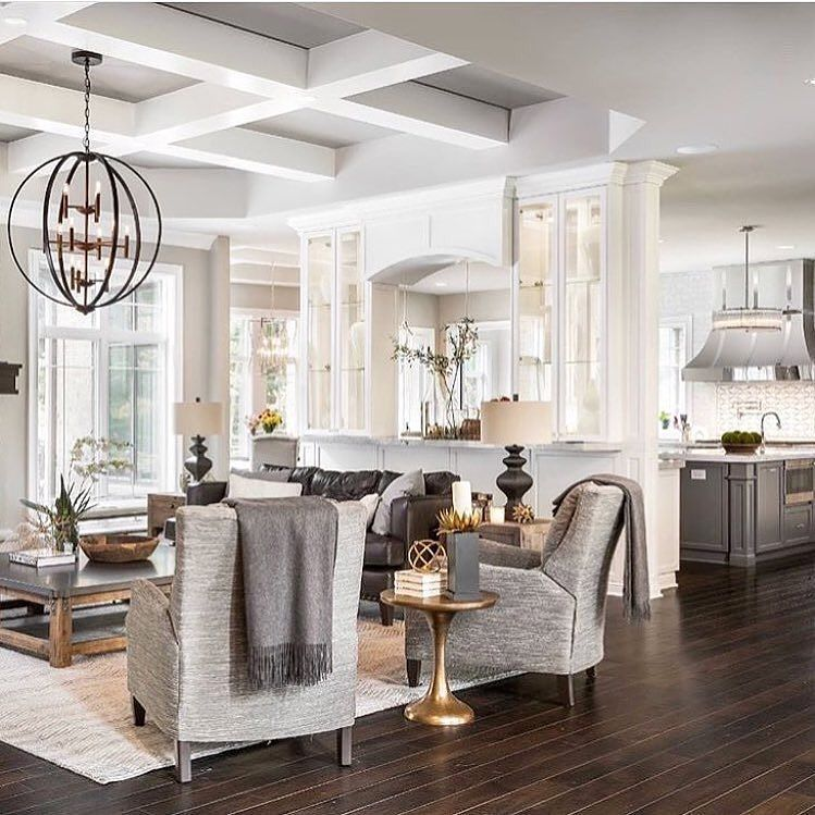 Open Concept Living Keeping Shades Neutral Mix Textures And Materials To Create A Calming Yet Interesting Space Home Decor Tips Home Decor Dinning Room Decor