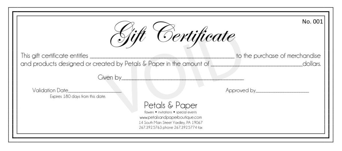 Certificate Templates: Microsoft Works Gift Certificate