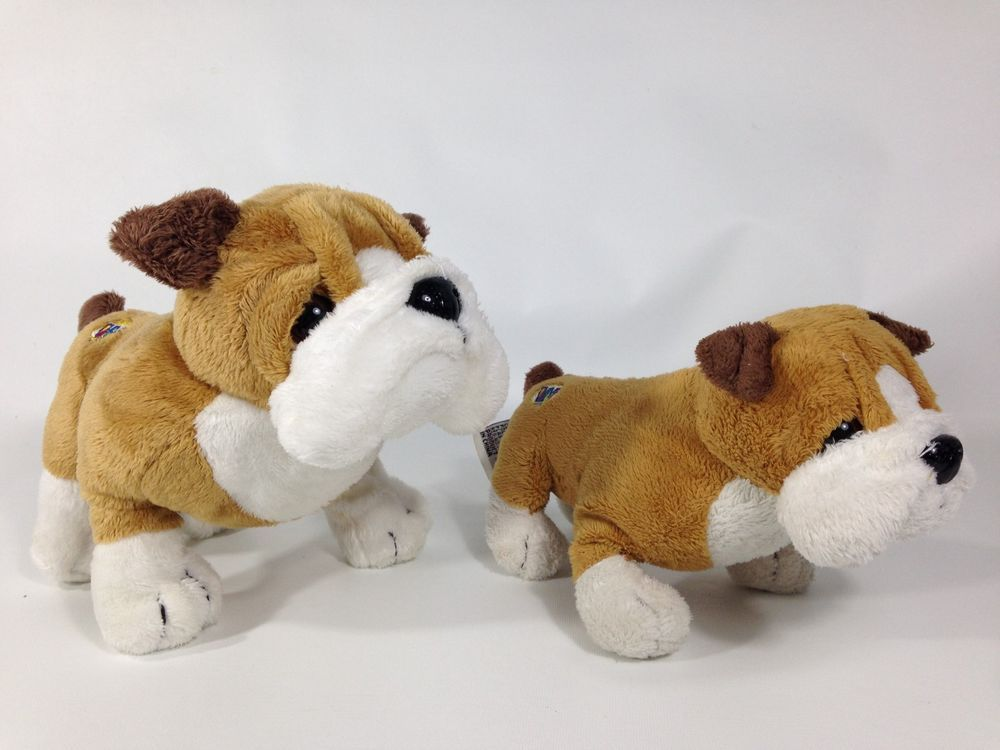 Ganz Webkinz Bulldog Plush Set Of 2 Bull Dogs Puppy Stuffed