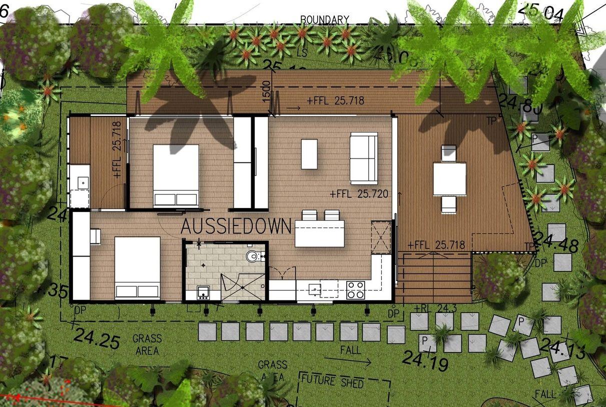 California Red 2 Bedroom Summer House Small House Tropical House Design Facade House