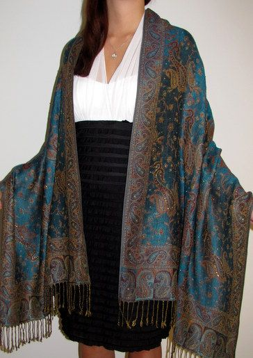 Paisley-Silky Soft-Beautifully Crafted Long Pashmina Shawls//Scarf//Wrap NEW