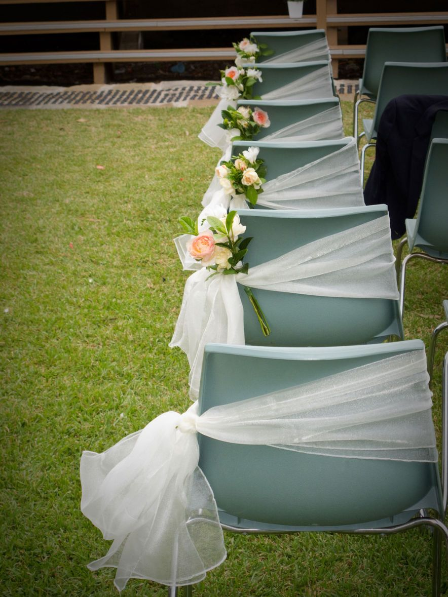 Even Plain Plastic Chairs Can Be Turned Into A Lovely Wedding