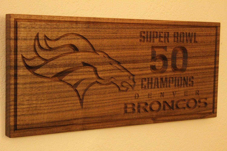 Denver Broncos Sign Super Bowl 50 Championship by SkagitWoodWorks