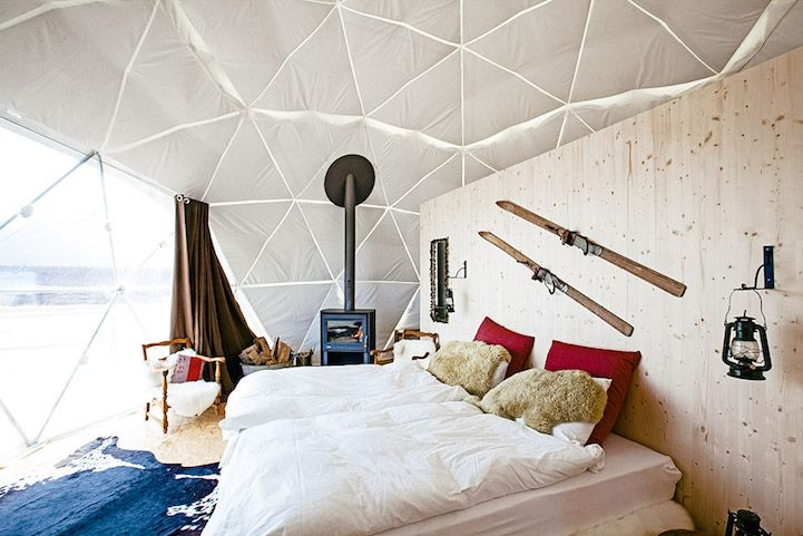 Geodesic Dome Hotel Offers Luxury and Adventure in the Idyllic Swiss ...