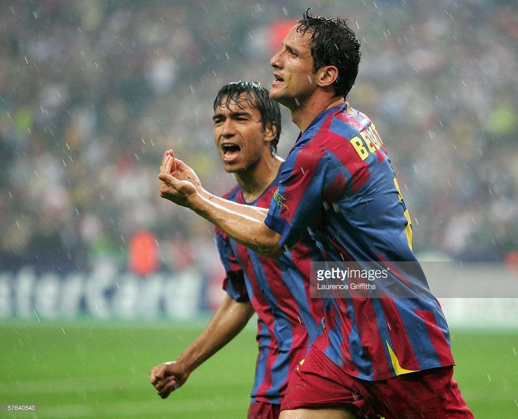 Juliano Belletti Of Barcelona Celebrates Scoring His Teams Second Uefa Champions League Champions League 2006 Champions League Final