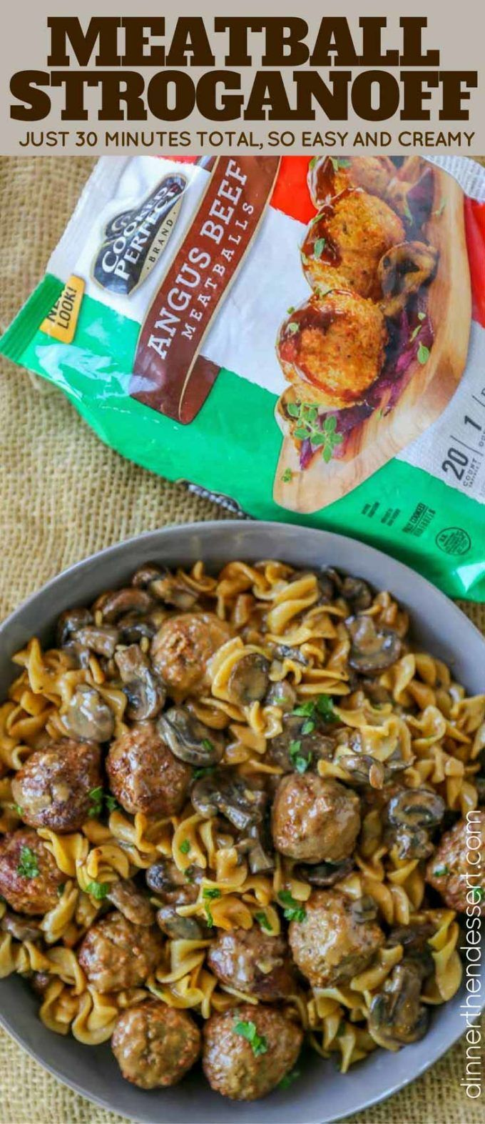 Quick and EASY Meatball Stroganoff in just 30 minutes with a creamy sour cream m...   - Meal Recipes -