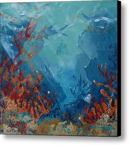 Coral Reef Canvas Print / Canvas Art by Robin Coats ...