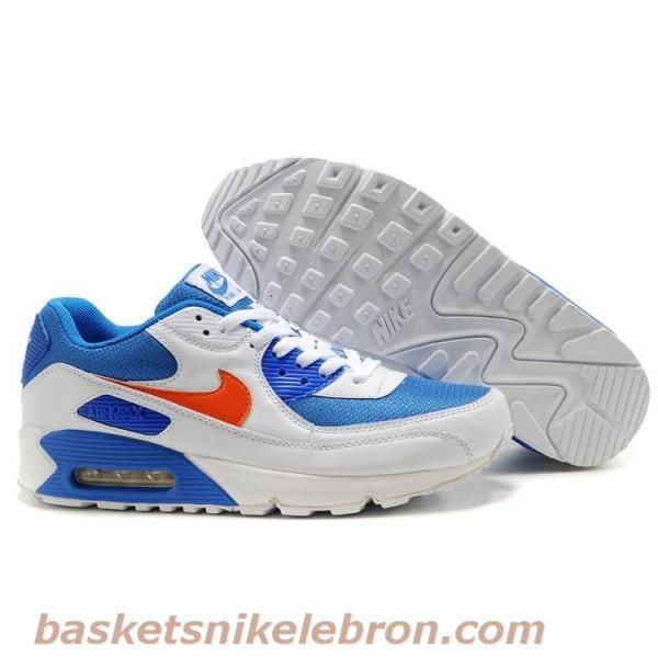 Nike Air Max 90 (Homme) Blanc / Orange / Bleu Air Max Homme | Nike ...