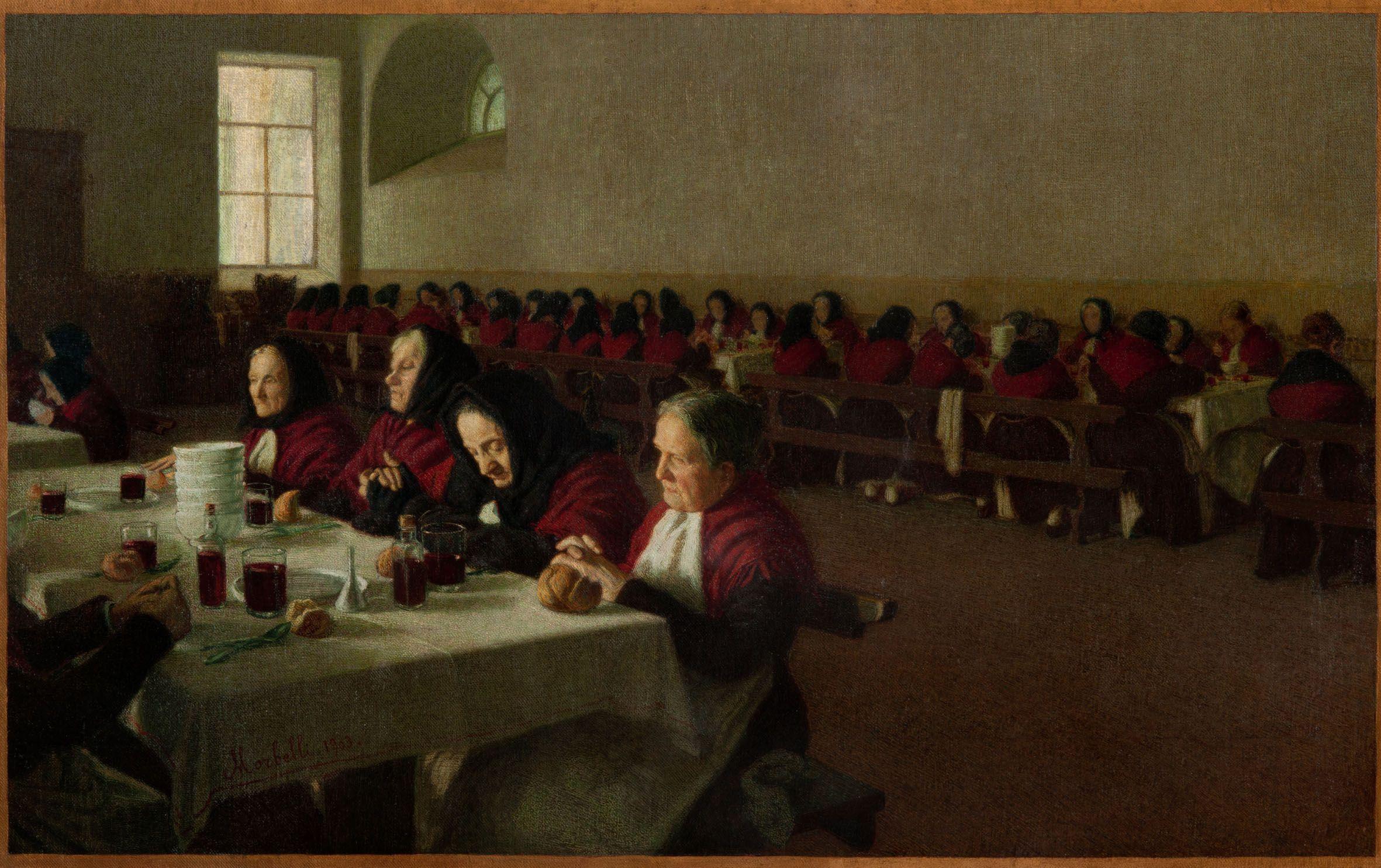Angelo Morbelli - Mi ricordo quand'ero fanciulla (Entremets) - 1903 - Pinacoteca Fondazione Cassa di Risparmio di Tortona