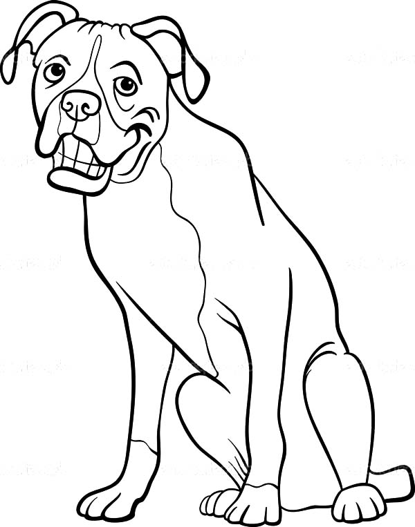 Boxer Dog Cartoon For Coloring Book Coloring Page Best Place To Color Dog Coloring Page Cartoon Dog Coloring Books
