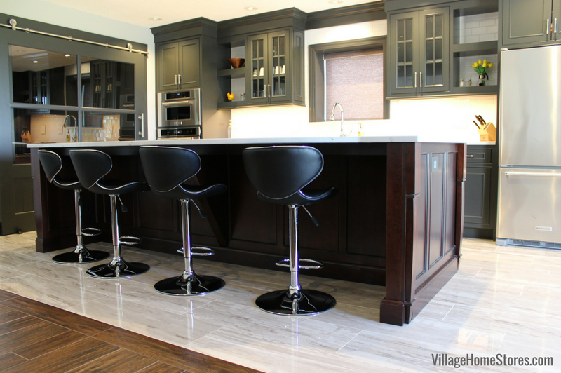 Durasupreme Cabinetry Island In Cherry Wood And Chestnut Stain Featured This Quad Cities Area Kitchen
