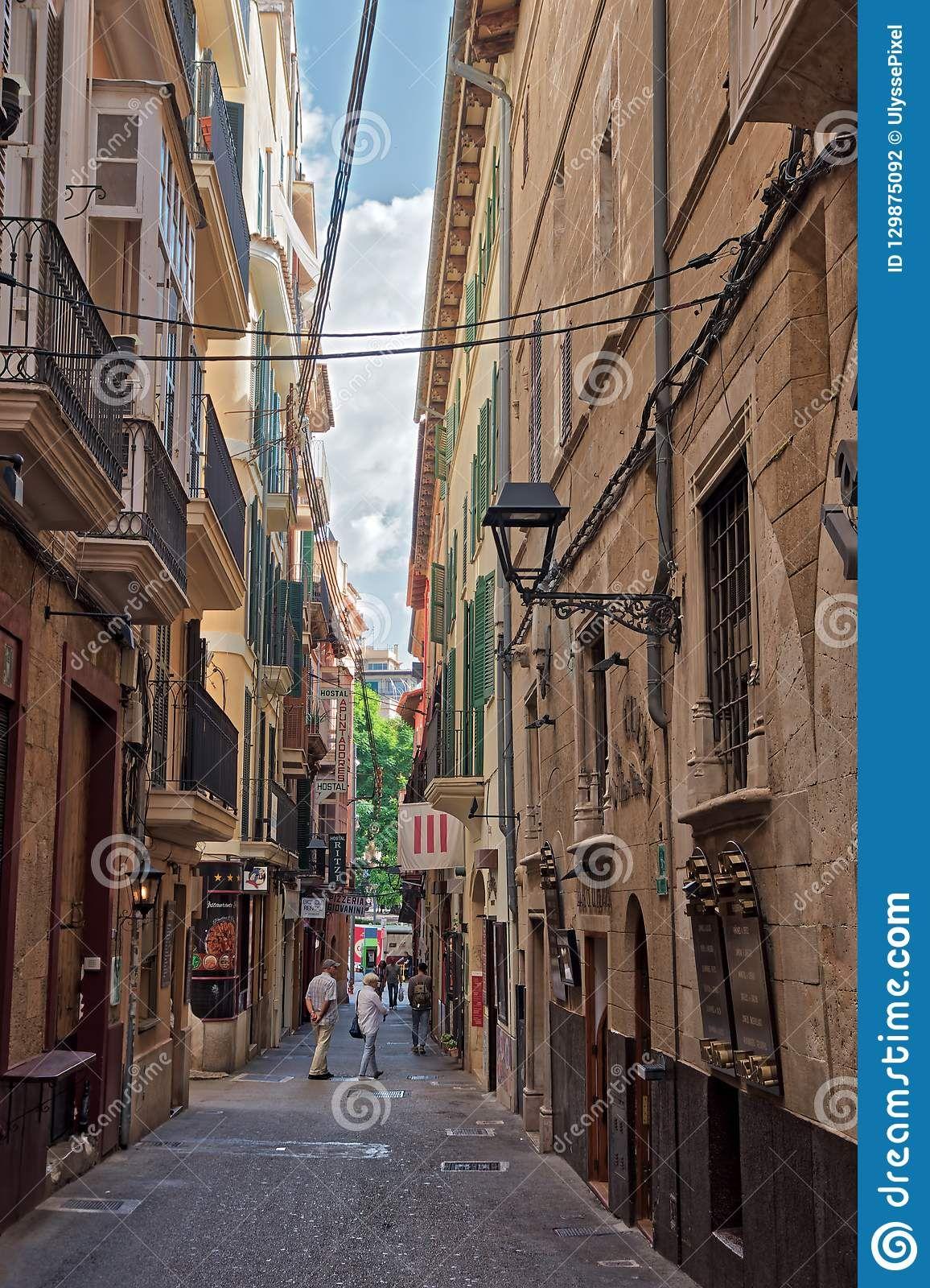 old town of palma de mallorca spain
