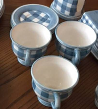 Cracker Barrel CKB11 Footed Cup & Saucer Set