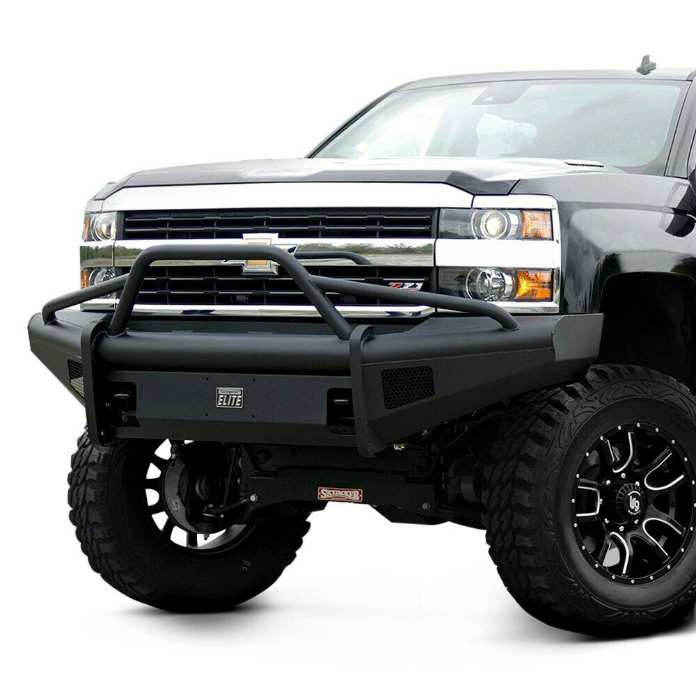 For Chevy Silverado 3500 Hd 07 10 Bumper Black Steel Elite Full
