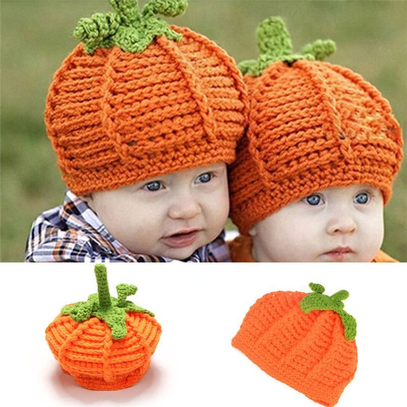 Precocious Pumpkin Crochet Hat For Infant Newborn Photography Props ...