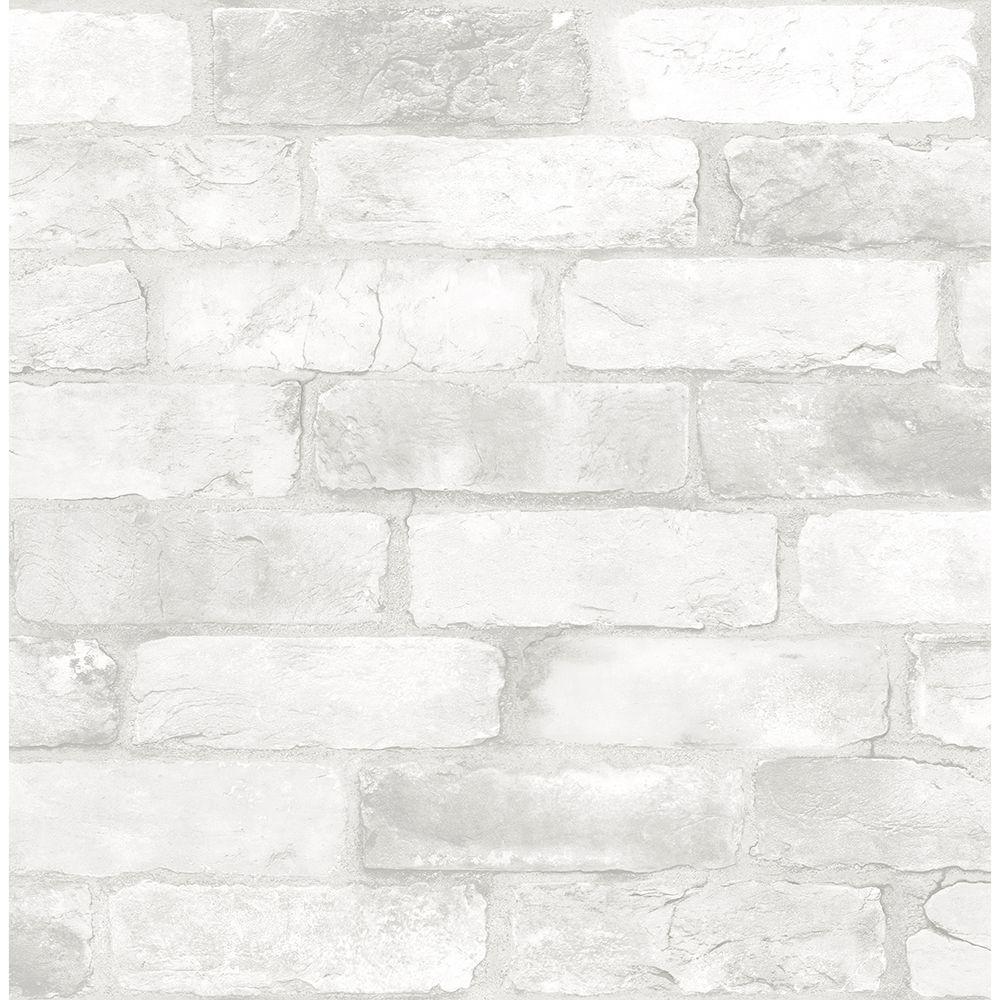 Brewster Reclaimed Bricks White Rustic White Wallpaper Sample 2701 22321sam The Home Depot White Brick Wallpaper Brick Wallpaper Roll Rustic Wallpaper