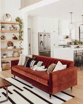 A mix of midcentury modern bohemian and industrial interior style Home and