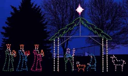 Lighted Outdoor Nativity Sets   Google Search | U2020 La Natividad U2020 Luke 2:14  | Pinterest | Outdoor Nativity Sets