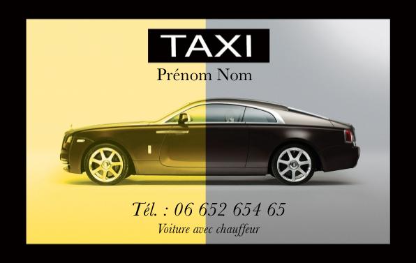 carte de visite taxi Carte de visite Taxi | Modèle Gratuit à Imprimer | Chauffeur