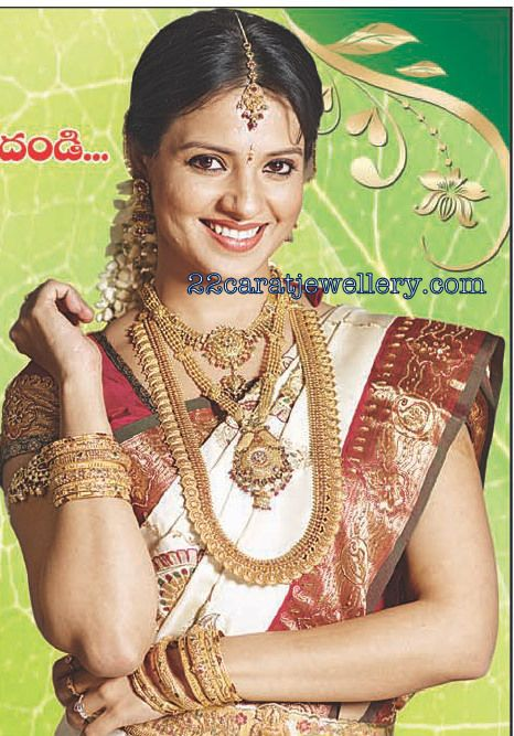 South Indian Actresses in Traditional Bridal Jewellery Indian