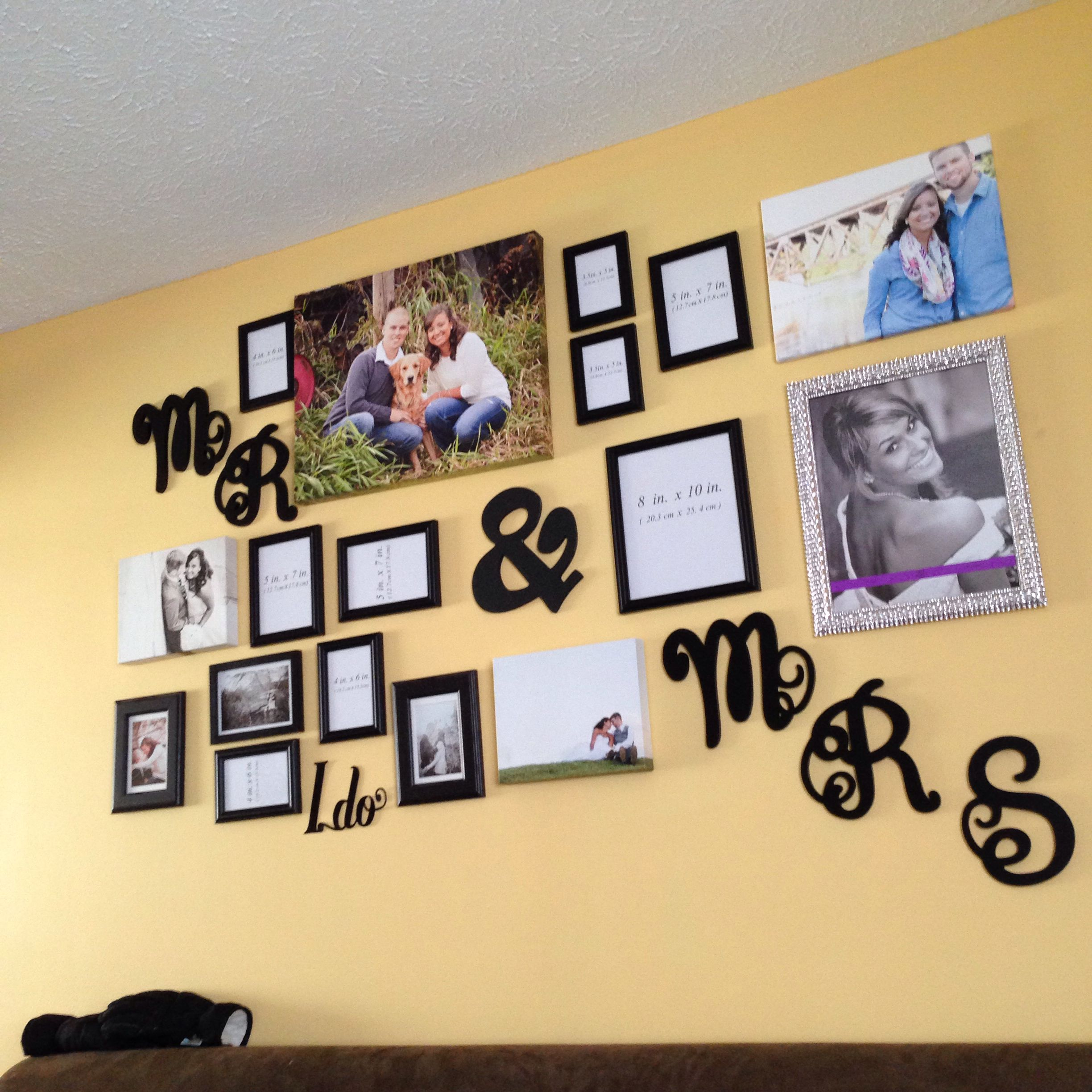 wedding pictures idea. Mr. and Mrs. wall. Wall frames | For the Home ...