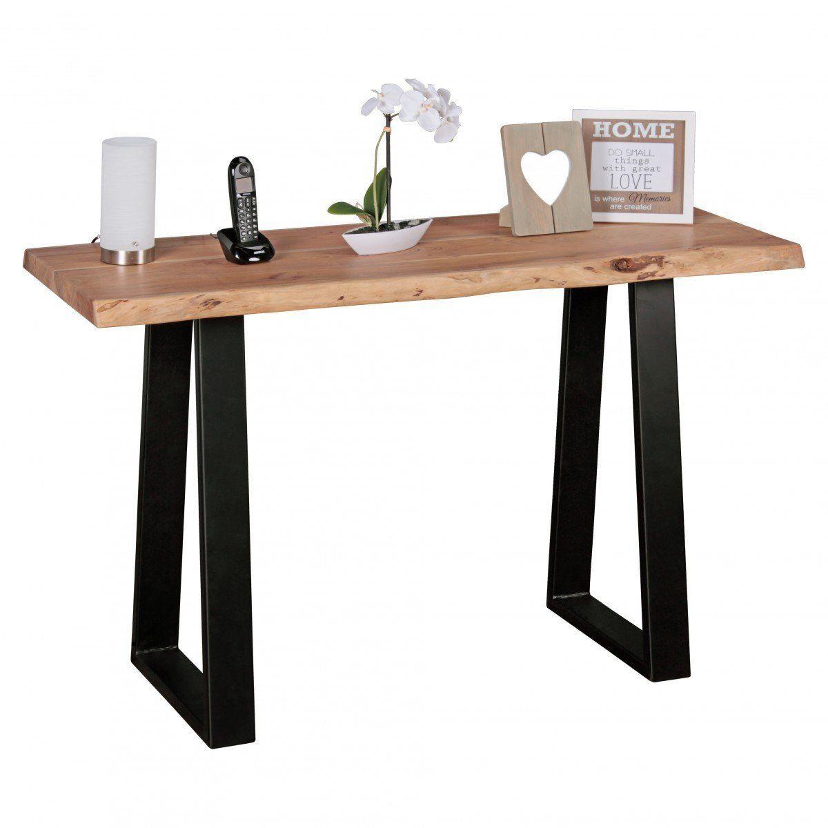 industrial style baumstamm konsolentisch holz massiv. Black Bedroom Furniture Sets. Home Design Ideas