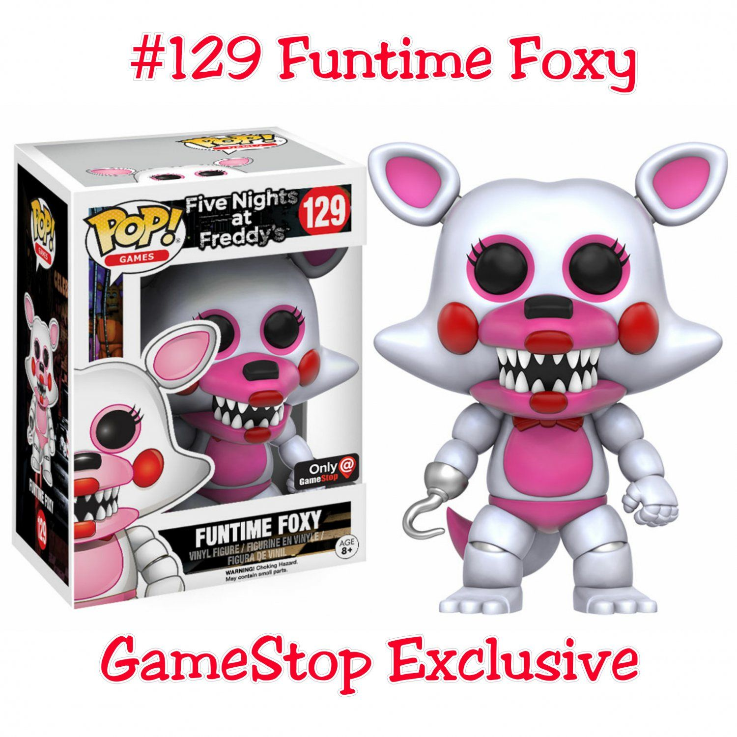 FUNKO POP FNAF FIVE NIGHTS AT FREDDY/'S CUPCAKE CHASE COLLECTIBLES CHICA FOXY