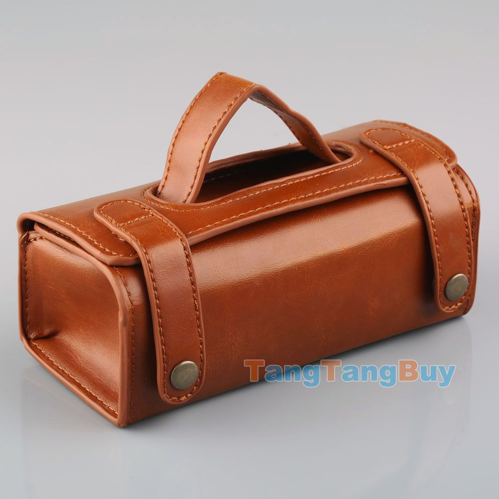 Mens Travel Toiletries Cosmetic Bag Brown Pu Leather Shaving Wash Toiletry Case Ebay
