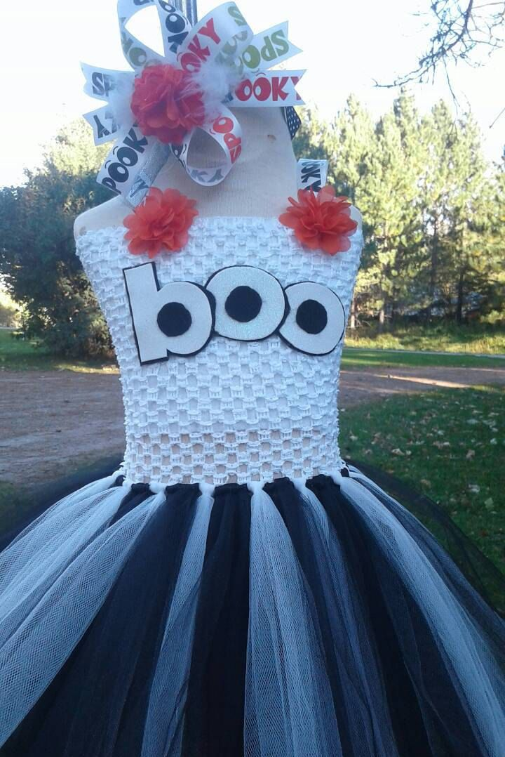 Halloween boo ghost tutu dress or Birthday tutu dress. by candysTUTUboutique on…