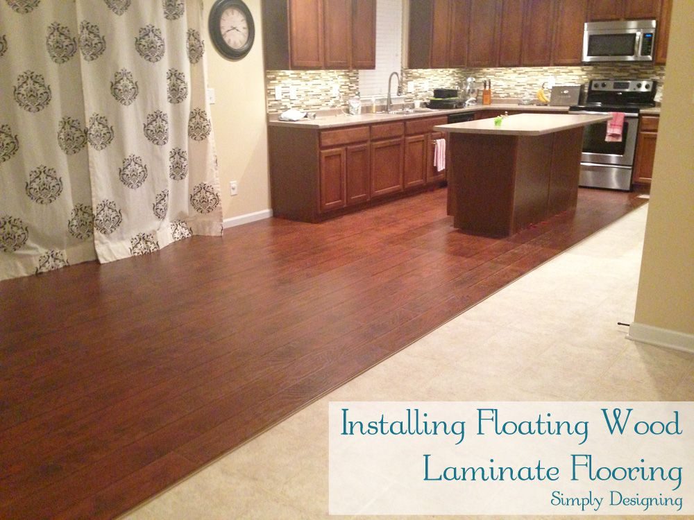 How To Install Floating Wood Laminate Flooring {Part 1