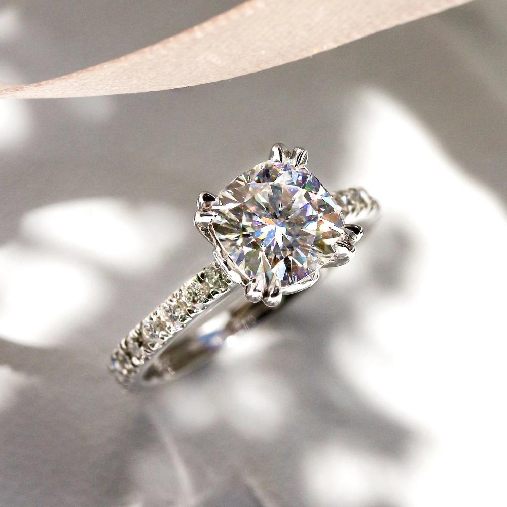 Beverly Hills Jewelers 2 00 Carat Diamond Engagement Ring Igi Certified 14 Karat Whit In 2020 Stunning Diamond Rings Diamond Engagement Rings Womens Engagement Rings