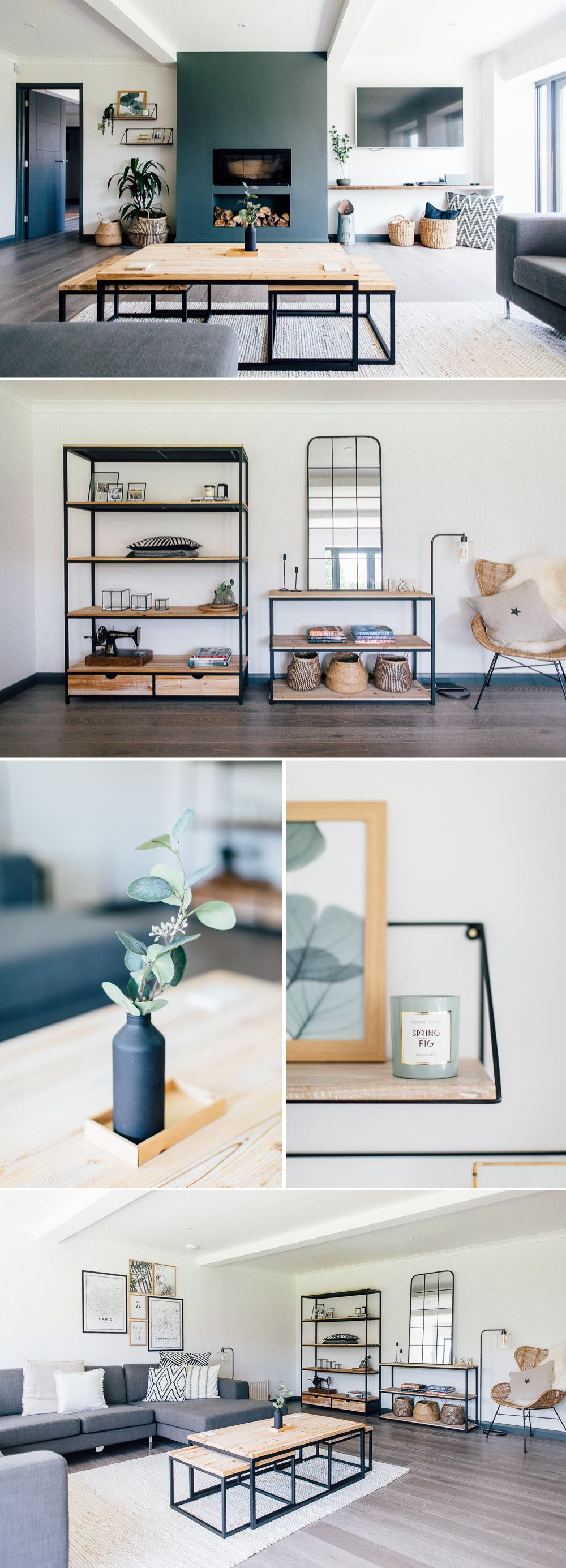 Monochrome Industrial Home Tour {Bungalow Renovation} images