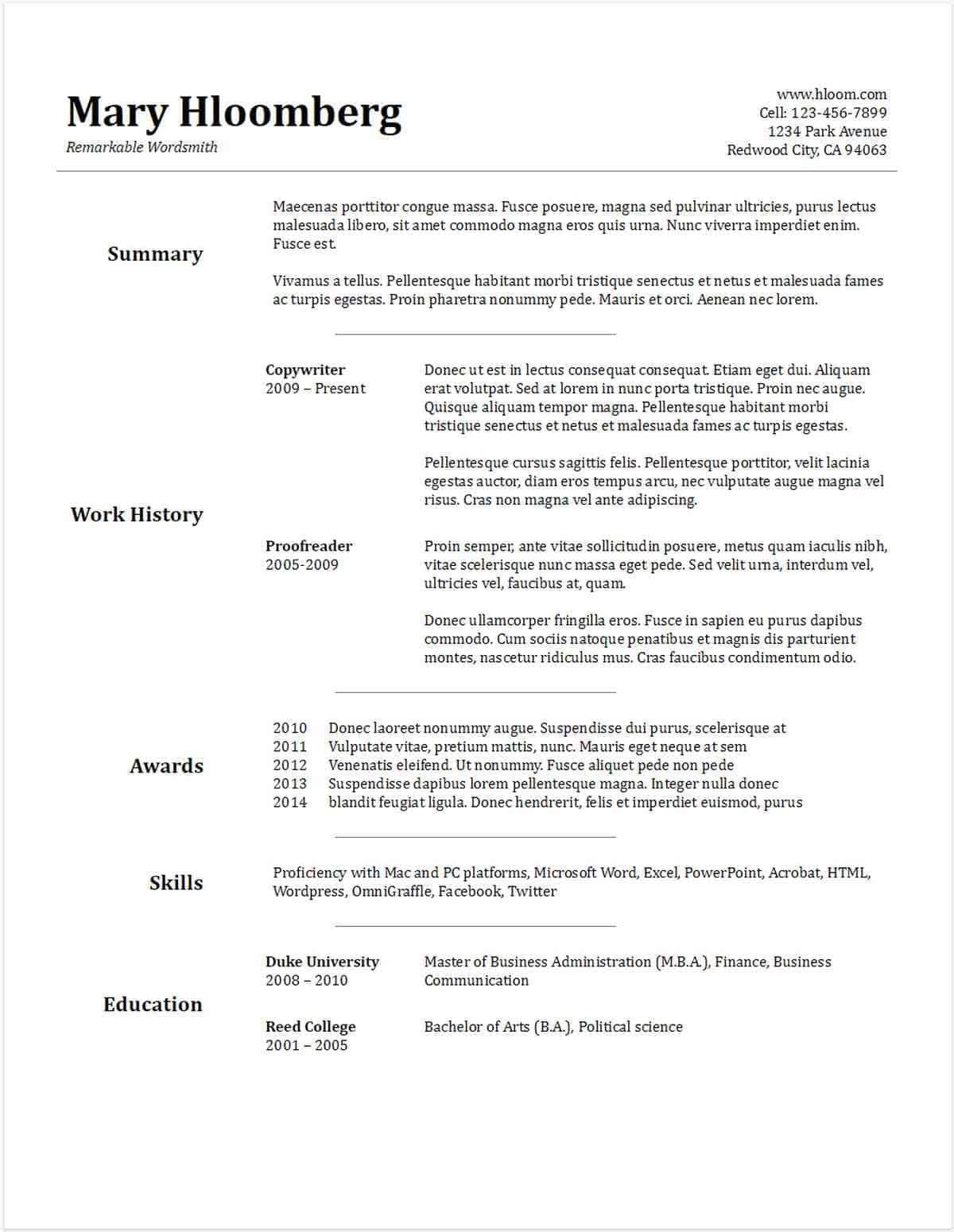 Free Resume Templates for Google Docs Modern 30 Google