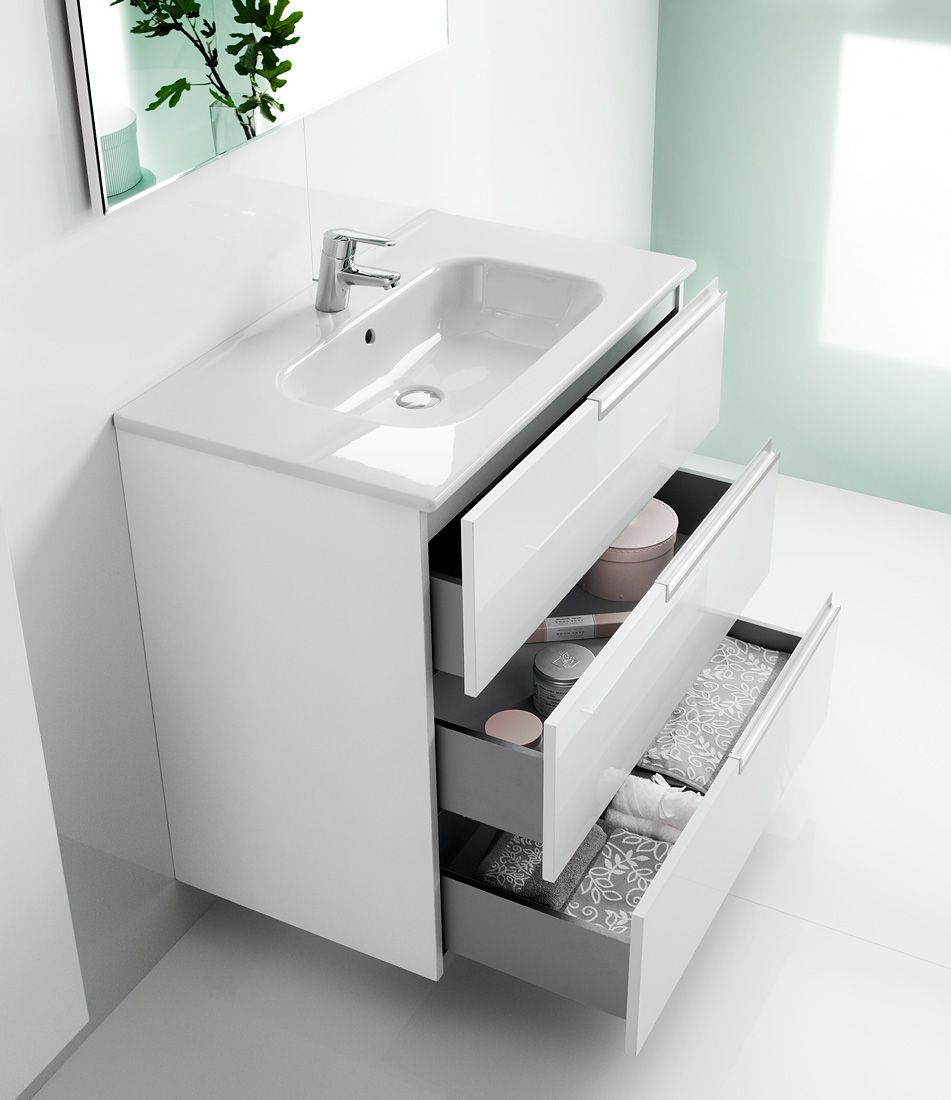 Roca Victoria-N Unik Basin And Unit With 3 Drawers 800mm - White ...