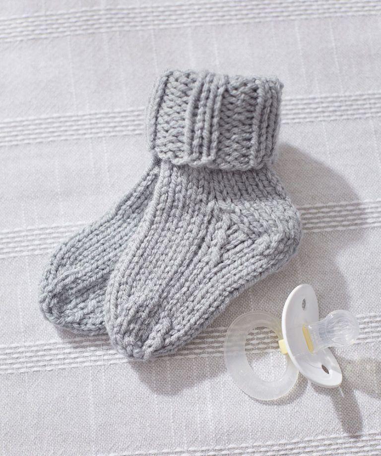 Knit Baby Socks Free Knitting Pattern Knitted Baby Knit Patterns
