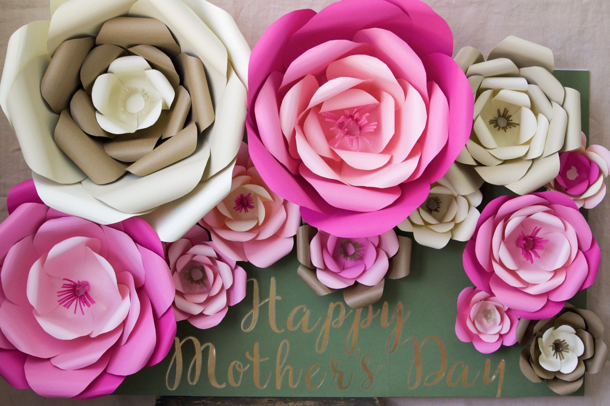 How To Make Large Paper Flowers Flowers Learning And Large Paper