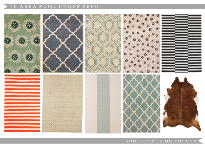 ROOST: 10 great area rugs under 500 dollars