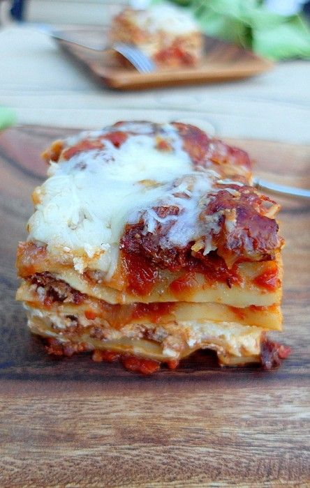 Five Cheese Hot Italian Sausage Lasagna from pastrychefonline.com. No need to pre-cook your noodles. They cook right in the spicy, flavorful sauce. And with all that cheese, you just can't go wrong! Comfort food at its best!