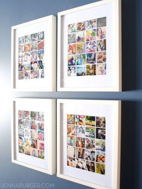 30 fotow nde und fotocollagen ideen fotowand dekoideen. Black Bedroom Furniture Sets. Home Design Ideas