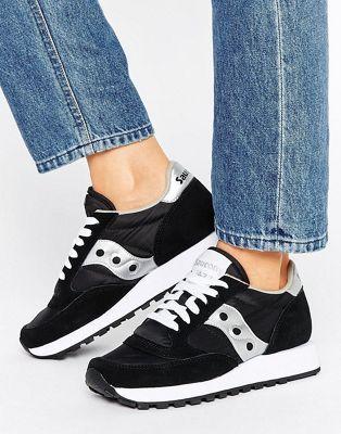 Saucony Originals Jazz sneakers basse uomo nero e bianche