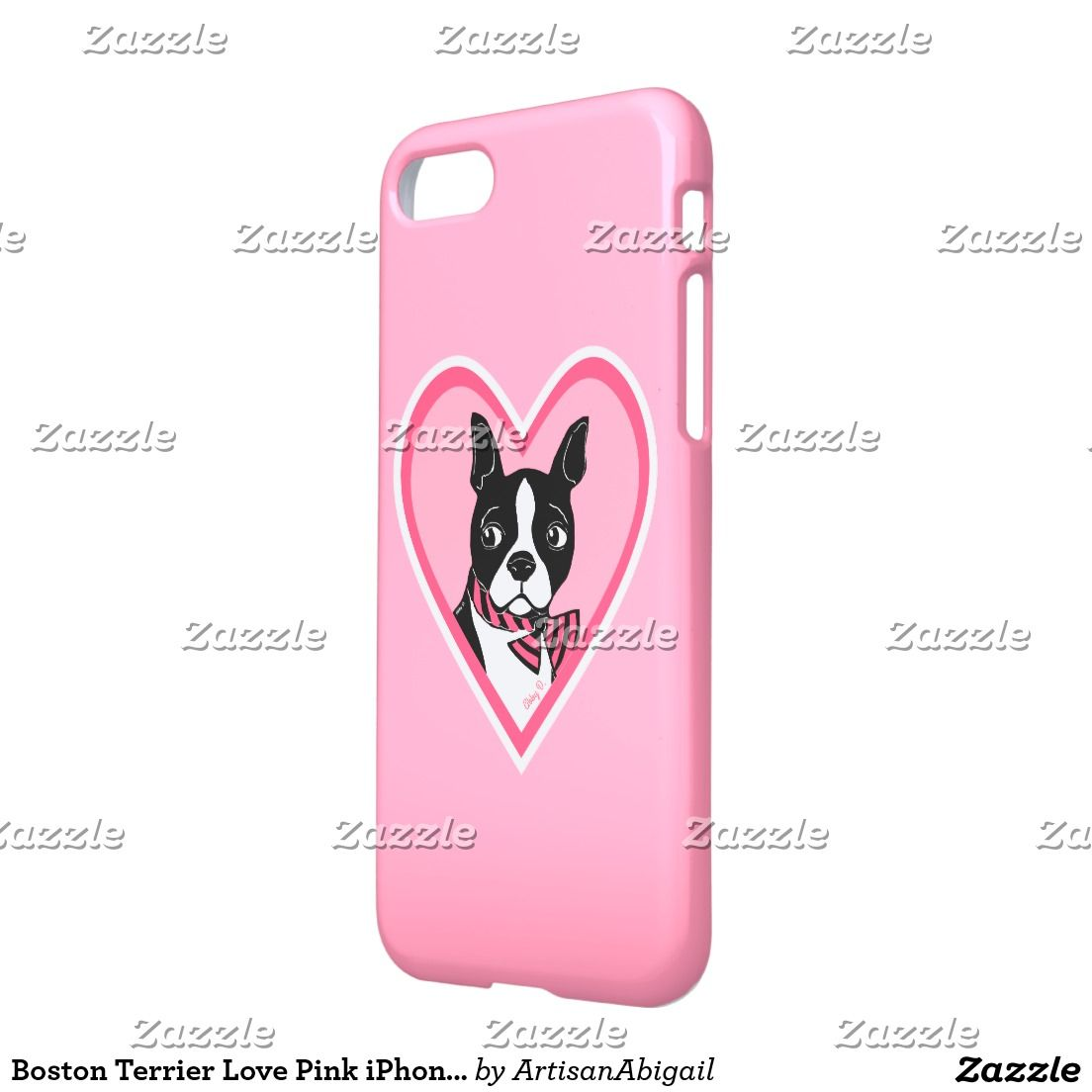 Black White Cocker Spaniel Pink IPhone 6 Case