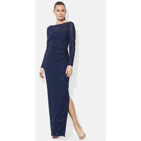 Lauren Ralph Lauren Sequin Lace Gown | Style | Pinterest | Sequins ...