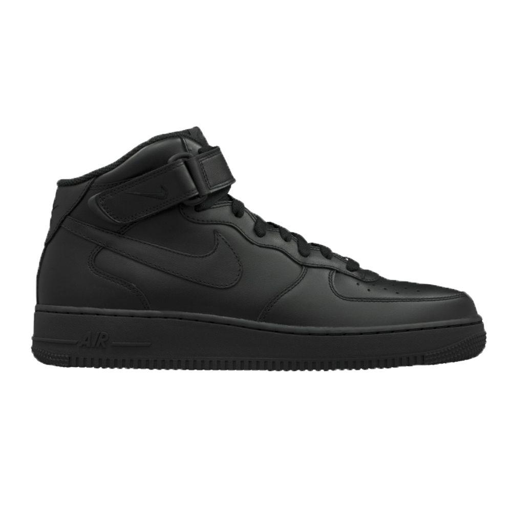 sale retailer 9cc65 7f6db NIKE-Air-Force-1-High-Herren-Schuhe-Basketballschuh-Sneaker-schwarz