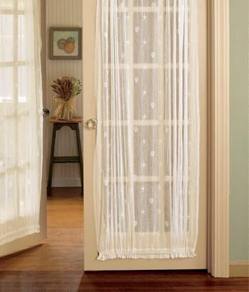 Seaside Lace Door Panel Country Curtains French Door Curtains Country Curtains French Doors Bedroom