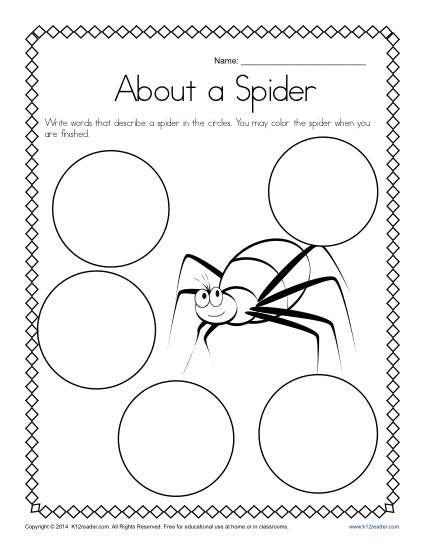 Kindergarten Writing Prompt Describe A Spider Kindergarten Journals Prompts Kindergarten Writing Prompts Kindergarten Writing
