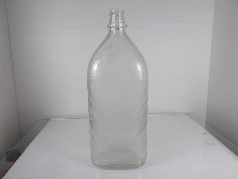 Vintage Parsons Ammonia Co  Inc  Clear Flask Bottle Metro Glass