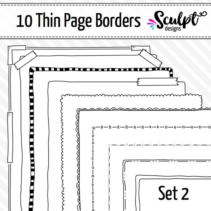 Borders Thin Page Frame Borders Set Two Pinterest